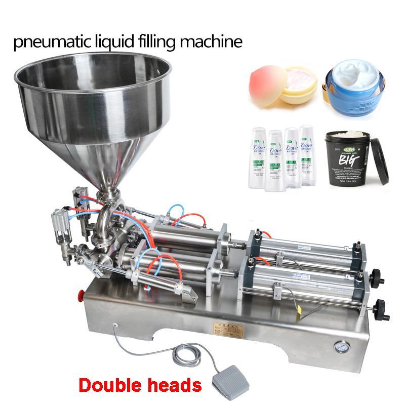 10-300ml neumático volumétrica Softdrin líquido de llenado de botellas de jabón líquido miel máquina neumática líquido de relleno doble dirige la máquina de rellenar