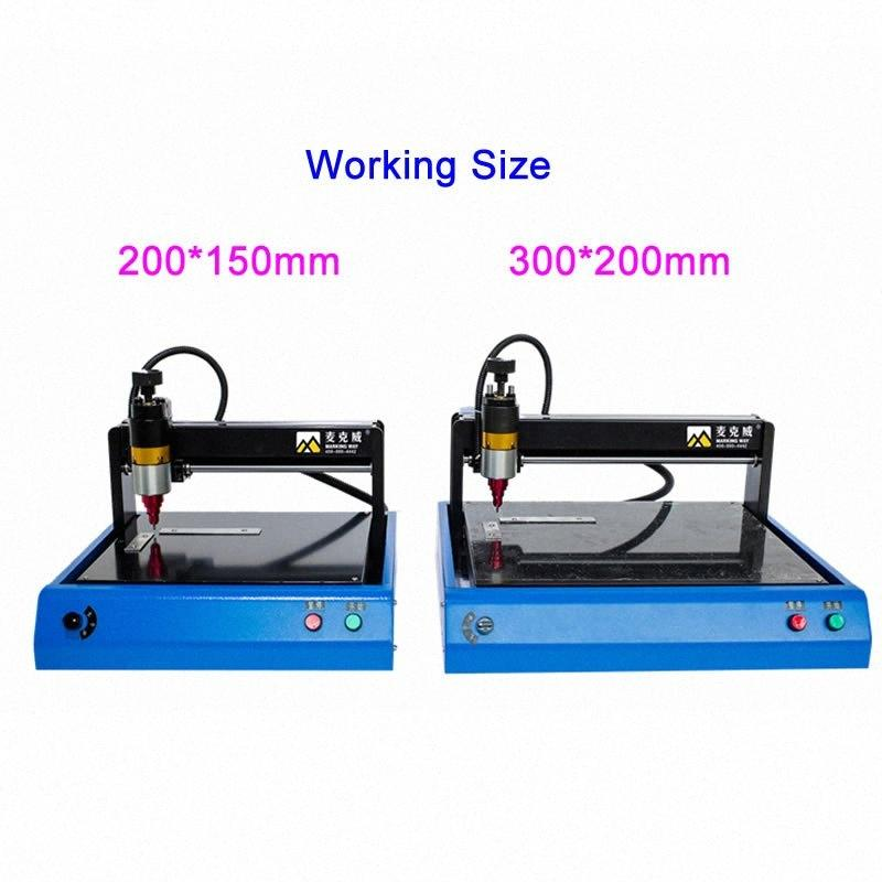 Metal İşaret Plakası için İşaretleme Kodlama Makinesi 220V 400W Paslanmaz Çelik CNC 300x200 200x150mm 5xDf #