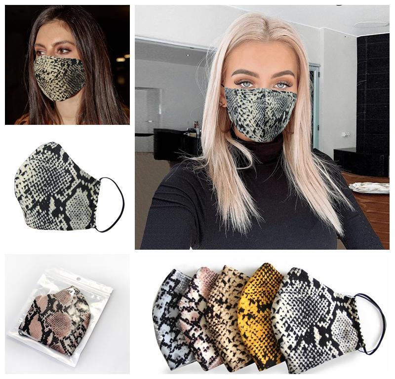Moda Leopard Yüz Maskeleri Tasarımcı Maskesi Yıkanabilir toz geçirmez Respiratörü Binme Bisiklet Erkekler Kadınlar Doğa Sporları Ağız Maskeleri 100pcs yazdır