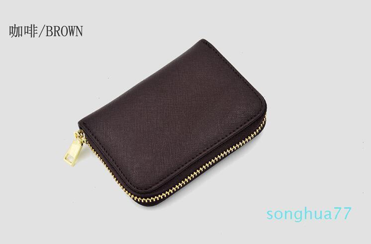 diseñador mujeres de la marca billetera sola cremallera monedero clásico de la marca de los hombres corta monedero con la caja de regalo