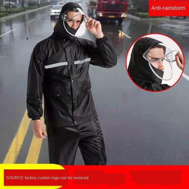 5Rj4e motocicleta calças de chuva chuva esporte camisola moletom conjunto dividida homens capa e Jersey motocicleta poncho
