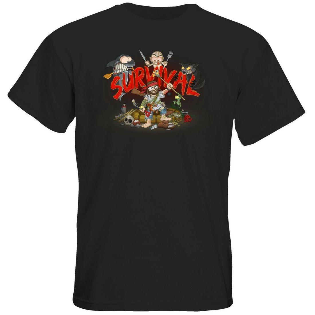 Getshirts-gronkh Oficial Merchandising-camiseta-Supervivencia de la camiseta del verano del estilo ropa de sport