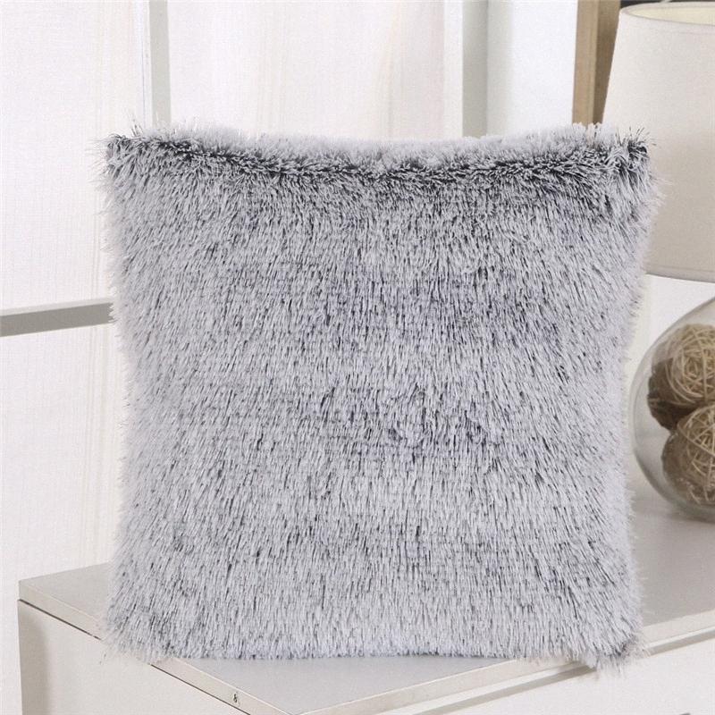 Fluffy Plush Cushion Cover Square Pillowcase Soft Comfortable Home Decor Cushion Case Sofa Chair Car Lumbar Pillow Cover aIbK#