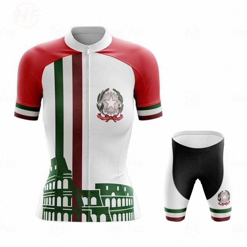Women Cycling Clothing Cycling Sets Bike uniform Female short Sleeve Jersey Road Bicycle Italy Jerseys MTB Bicycle Wear LFeh#