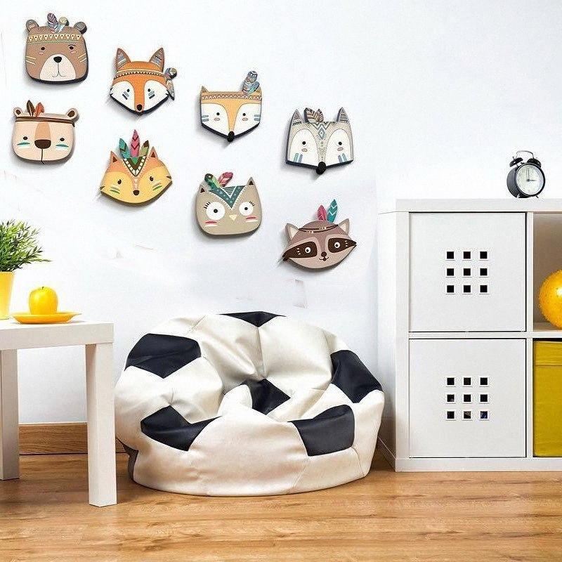 INS Nordic style en bois Cartoon animaux Chambre bébé tenture décorations Art mignon Artisanat animal Foxy Ornement de Noël eb3P #