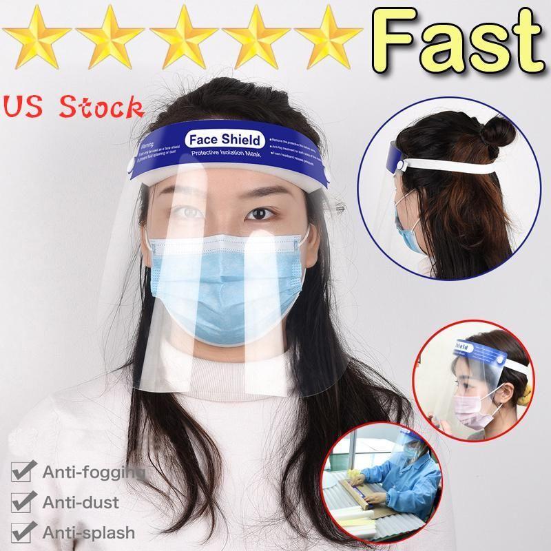 US estoque! Transparente Viseira de segurança para crianças de proteção máscara completa Film tampa ferramenta anti-nevoeiro crianças premium material de PET protetor facial