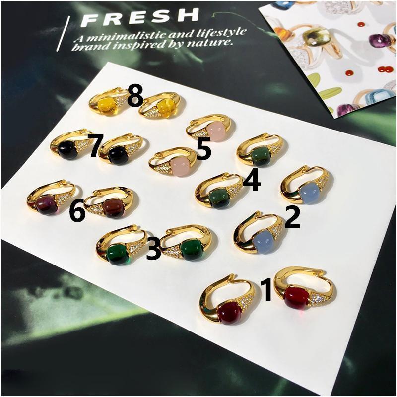 Personalizada pendientes de diamantes de color de moda para las mujeres aros de oro mujeres de la joyería de lujo de diseño