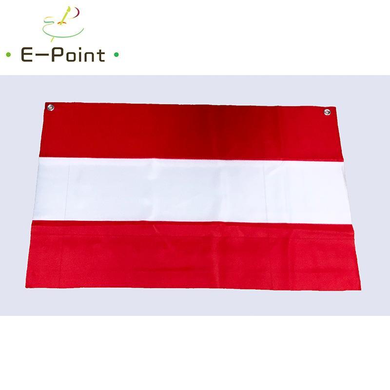 No.5 96cm*64cm size European Flag of Austria Top Rings Polyester flag Banner decoration flying home & garden flag Festive gifts