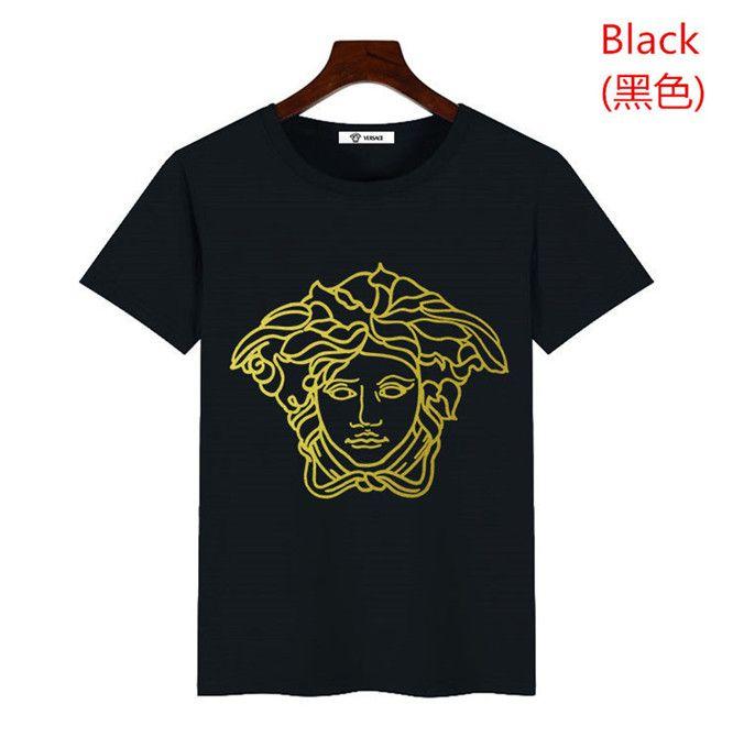 فيرساتشي للرجال قصور مصمم تي شيرت ماركة أزياء قميص تي أزياء ذات جودة عالية للرجال تي شيرت الهيب هوب عارضة قميص رجل تنفس