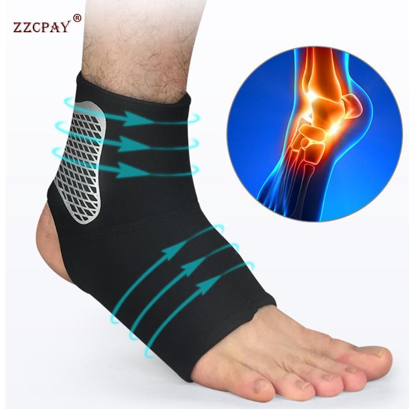 Unisex di compressione alla caviglia di sostegno della copertura del manicotto del piede Adatto per tendine d'Achille della caviglia Dolore comodo appoggio ultra-sottile