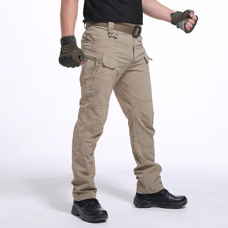 Hombres impermeable al por mayor pantalones de trabajo de carga largas con bolsillos pantalones flojos NDJ