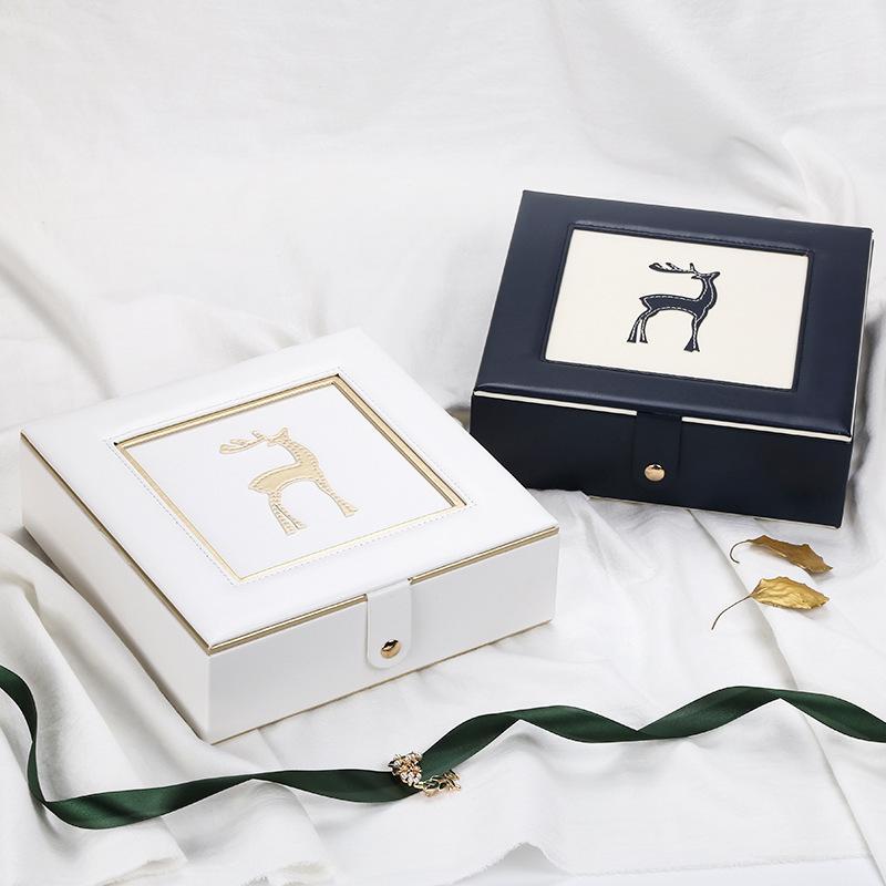 Caseger New Deer ювелирных изделий ящик для хранения творческой личности Pu с зеркалом двухслойной шкатулкой