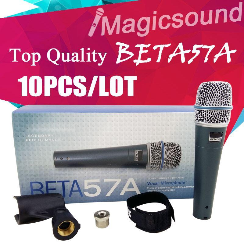 Upgrade-Version BETA 57A !! Großhandels10pcs Top-Qualität BETA57 BETA 57 Vocal Handmikrofon Dynamische Wired Microfone Mic