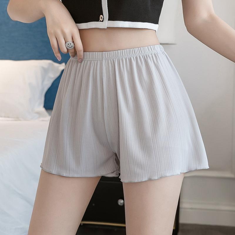 p8icK Verão novo anti-exposição calças de segurança calções calças de segurança desgaste exterior das mulheres Ice Silk solta leggings fina sh casa grande seguro de tamanho