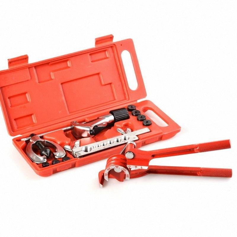 Kit de herramientas de la tubería del freno de la quema de la línea de fontanería con aluminio 3-en-1 de 180 grados doblador de tubos cortador SKCV #