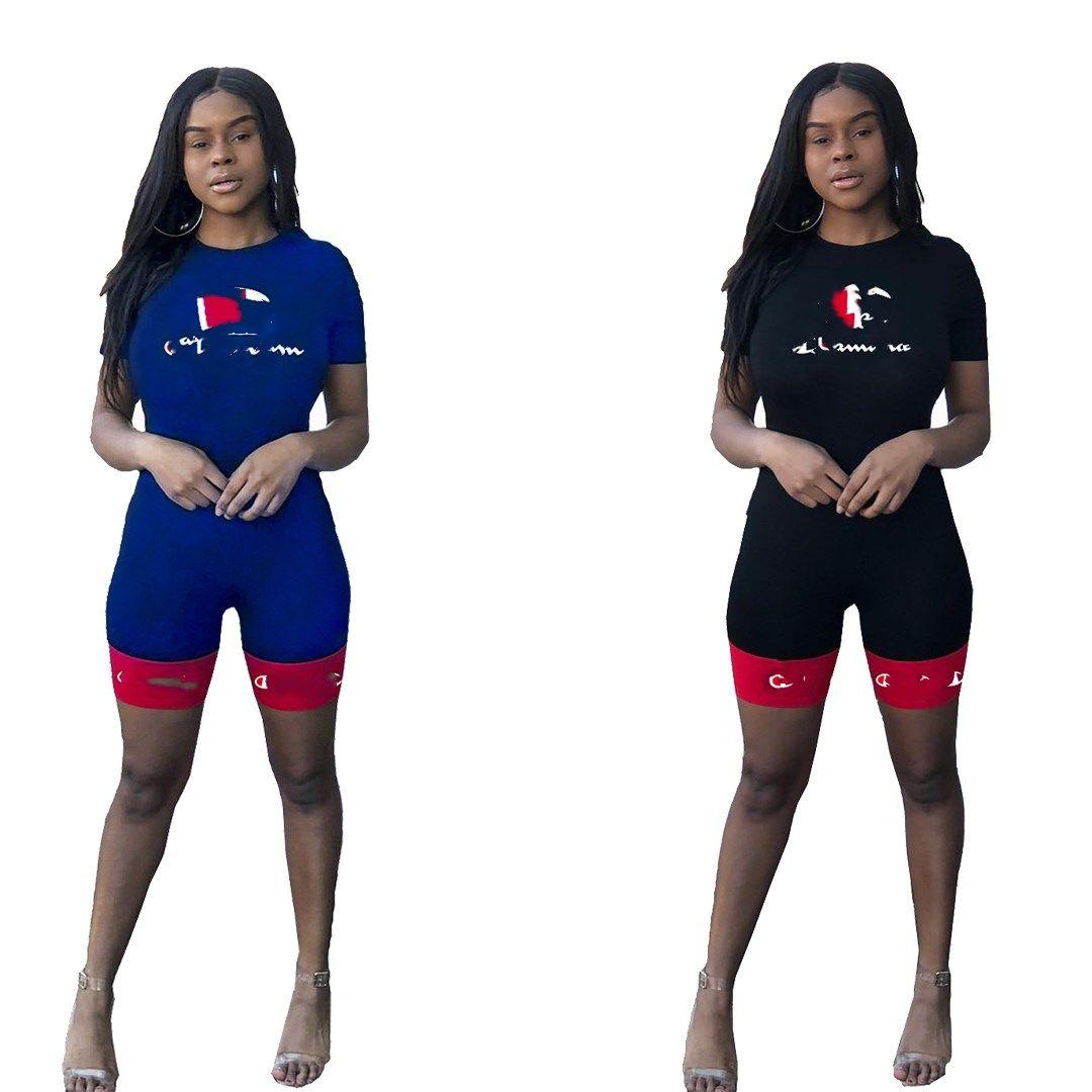 le donne progettista donne vestiti della tuta 2 pezzi di design senza maniche abiti soprtswear confortevole vendita calda 07045