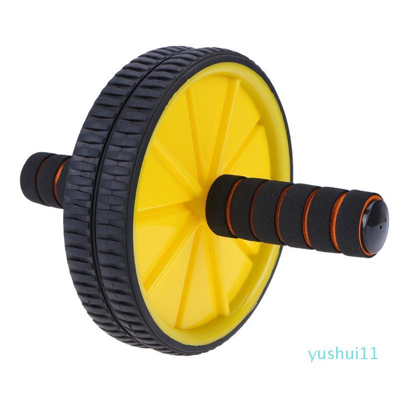Оптово-двухосодержащие обновленные обновления AB брюшной пресс-ролики колеса Crossfit Упражнение для корпуса Фитнес для домашнего спортзала