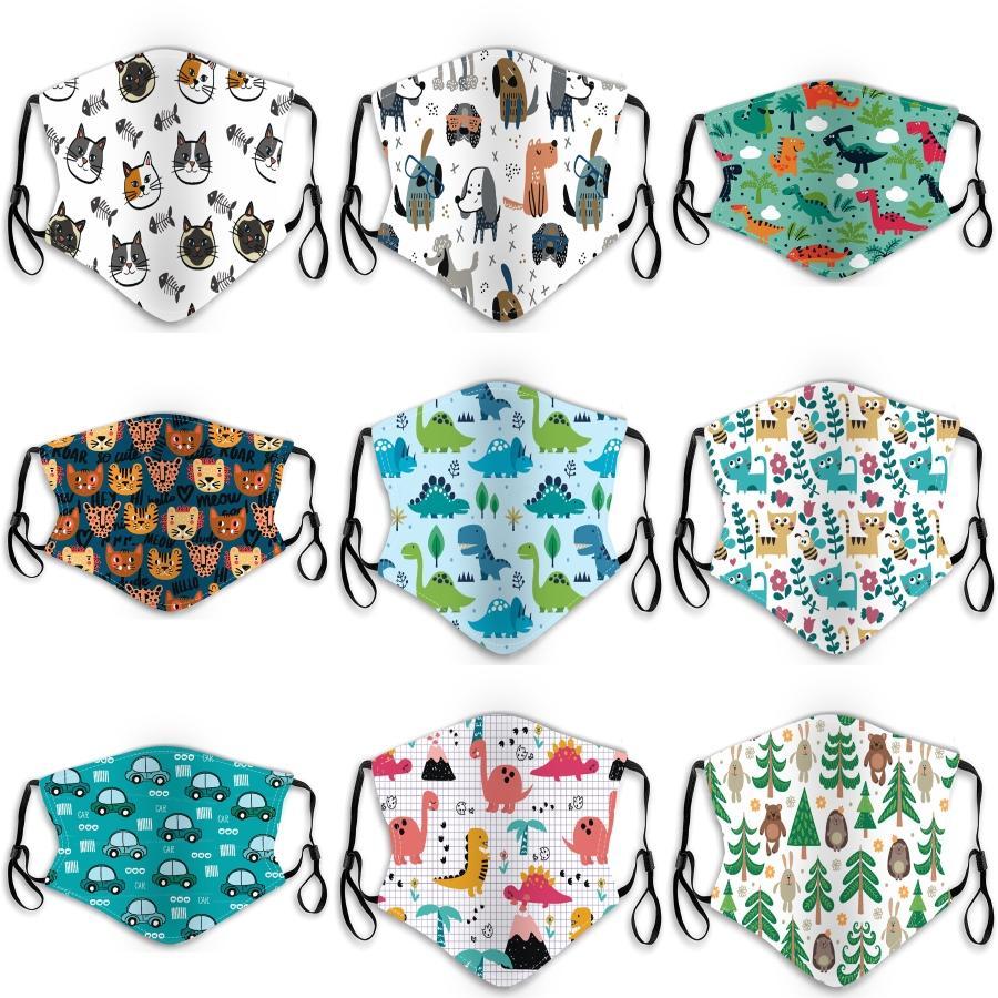 Auf Lager! Tier PrintWomen Baumwolle waschbar atmungsaktiv Staubdichtes Masken Anti Smog PM2.5 Schutzmasken One Size # 231