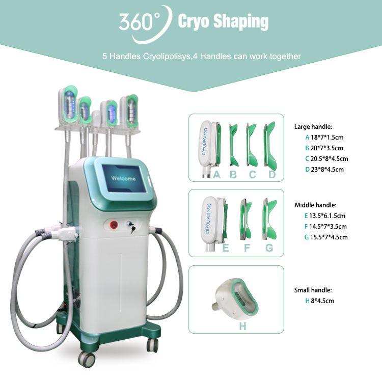 Latest cryolipolysis machine fat freeze vacuum fat reduction cryo machine freez cryolipolysis coolsculpting frozen fat machine