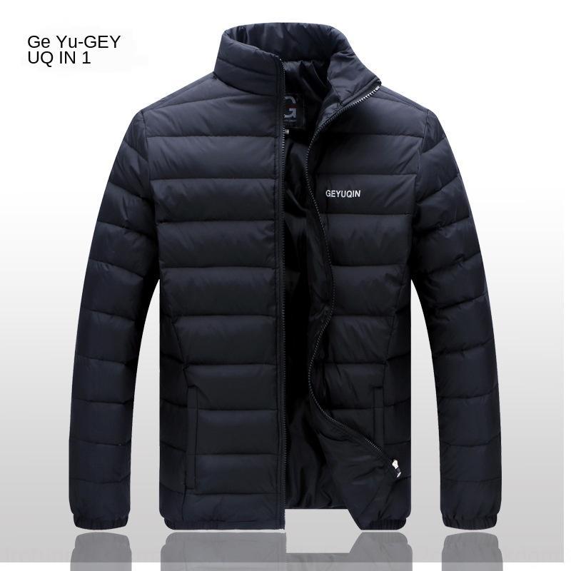 Baba orta yaşlı ışık palto L giysi ceket aşağı sezon orta yaşlı erkekler hafif kısa ultra ince aşağı ceket ceket Kapalı