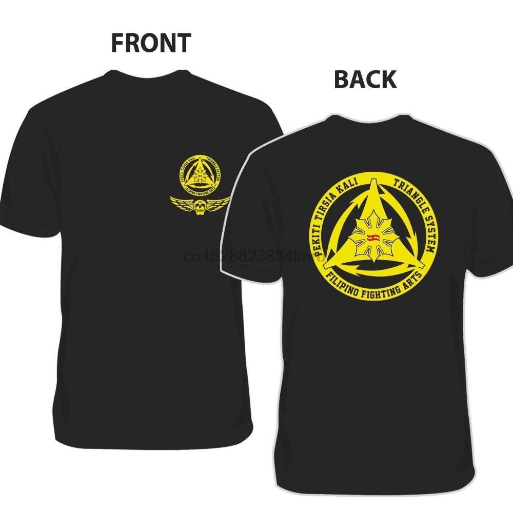 Nueva Pekiti Tersia Kali arte marcial filipina 2020 de verano de alta calidad de los hombres de la calle Impresión estilo en las camisetas