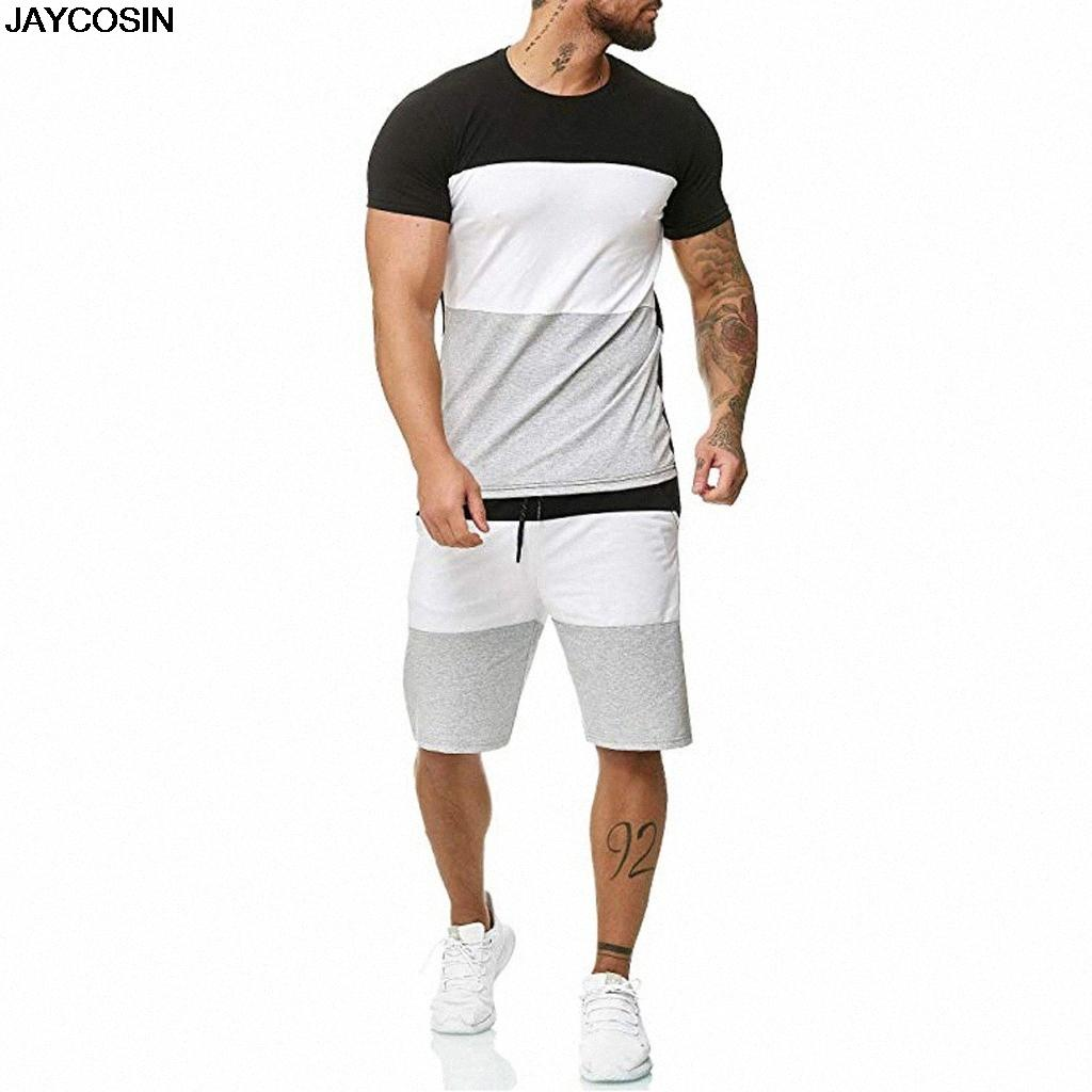 Herren Sets Herren 2 Stück Outfit Sport-Set Short Hülsen-Sommer-Freizeit-beiläufige kurze dünne Sets Anzugstoff-Qualitäts-heiße 9516 KyAv #