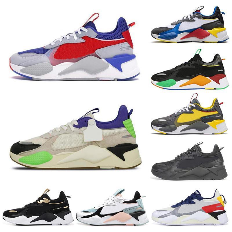 PUMA RS-X Toys جديد RS-X رجل الاحذية إعادة اختراع بارد أسود أبيض الأزياء الزواحف أبي chaussures الرجال النساء عداء مدرب الرياضة رياضية حجم 36-45