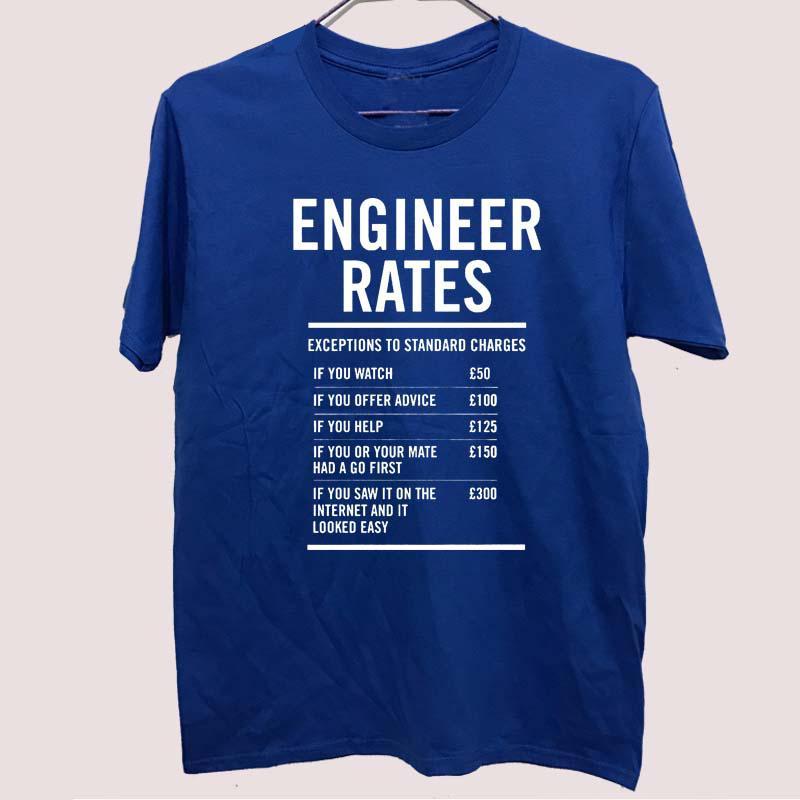 Ingénieur du travail Tarifs des hommes drôles Fête des pères IMPRIME T-shirt chemise pour hommes T-shirt Grand cadeau TShirt unisexe