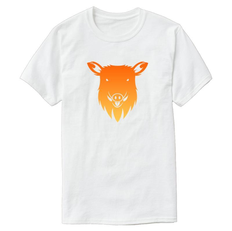 Классический Кабан Pig животных Зоопарк животных джунглей тенниска для мужчин Sunlight Мужская футболка вокруг шеи 100% хлопка Tee Top