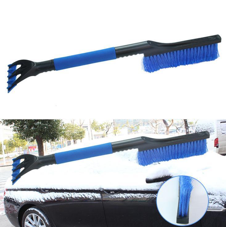Multi-fonctions 2-en-1 Pare-brise de voiture Grattoir Brosse de neige d'hiver enlever le givre Broom Clean Outils Pelle Accessoires