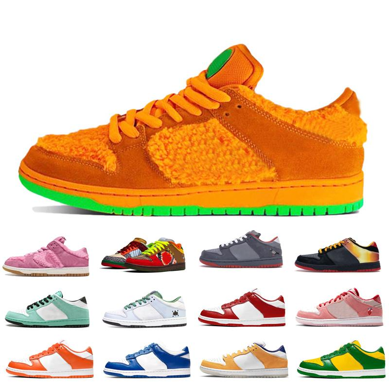 New Women Men baixo Basketball skate Shoes Mens Womens Red Kentucky Urso Preto Laranja Universidade ouro ao ar livre sapatos desportivos confortáveis