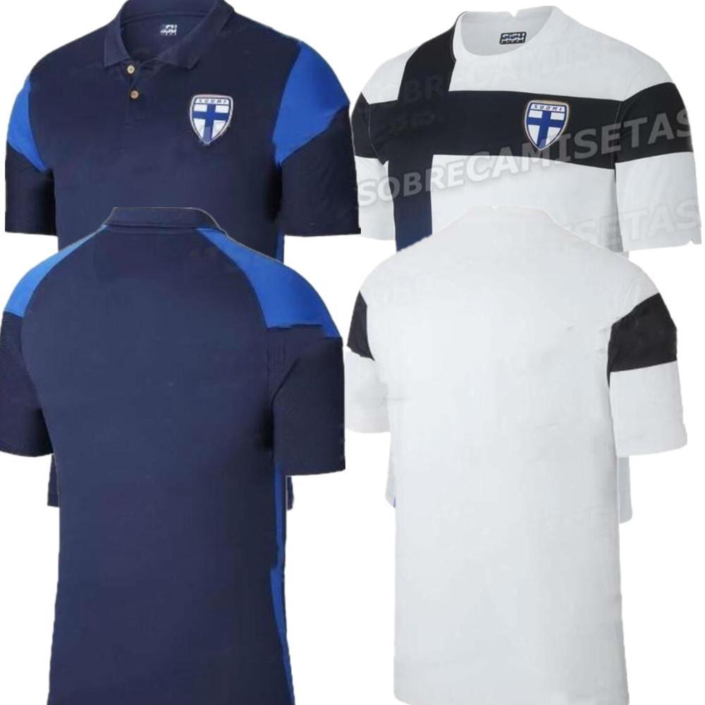 20 21 Finlandia maglia da calcio 2020/2021 Pukki Skrabb Raitala Lod Jensen camicia di calcio Mens Finlandia In casa Fuori casa manica corta da football