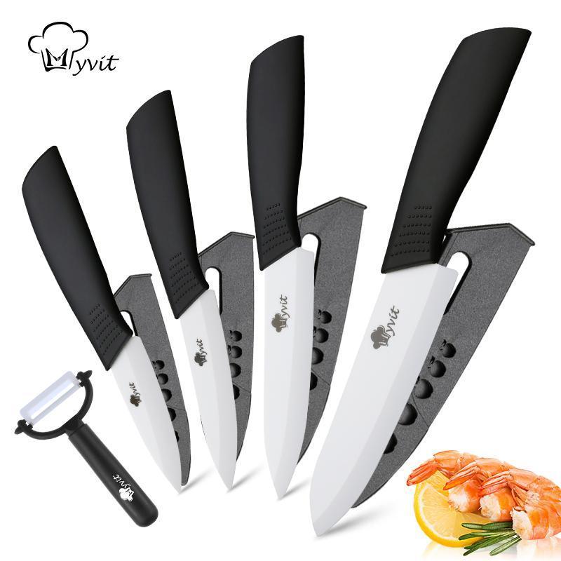 YKC السيراميك الخضروات سكين مطبخ الشيف أداة التقشير الفاكهة السكاكين 3 4 5 6 بوصة + مقشرة زركونيا السيراميك الأبيض شفرة الطبخ أداة