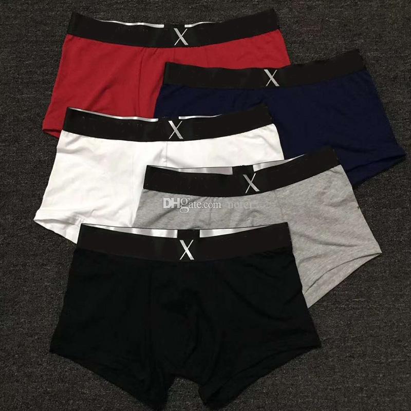 Hot 5 teile / sack Herren Unterwäsche Boxer Kurzschlüsse Stilvolle Herren Vintage Baumwolle Sexy Gay Cueca Boxer Strand Atmungsaktive Boxershorts Unterhosen