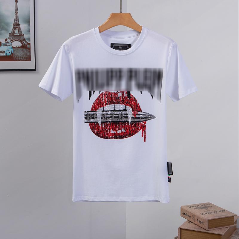erkek tasarımcı t shirt Mens Kafatası tişört Yüksek Kalite baskı t shirt Tees zincir reaksiyonu Schuhe Phillip düz Phillip Düz PP yy94