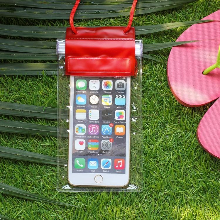 engelsiz şeffaf PVC cep telefonu su geçirmez çanta cep telefonu şeffaf su geçirmez çanta 360 derece