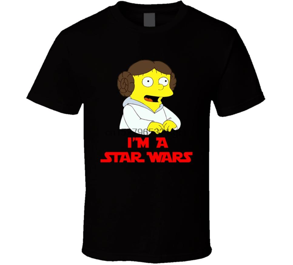 Новый И. М. Simpsun Принцесса Лея Мужчины T-Shirt Размер S-2XL Полный Фигурные Tee Shirt