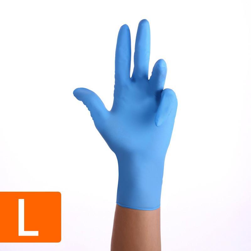 Guantes, gratuito, BlueWhite nitrilo desechables sin látex en polvo, con textura antideslizante de grado alimenticio Gl SZ3A
