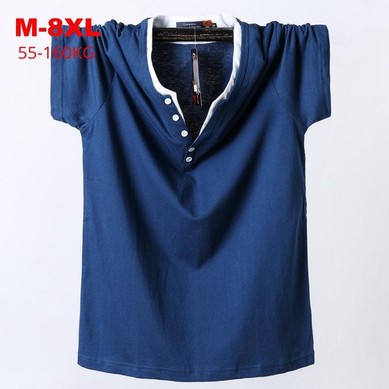 Camisetas para hombres Camiseta de gran tamaño 2021 Llegada Summer Plus Tamaño M-6XL 7XL 8XL HOMBRES HOMBRES BIG TALL TALLE T-SHIRTS MAJO CAMISETA GRANDE AJUSTE
