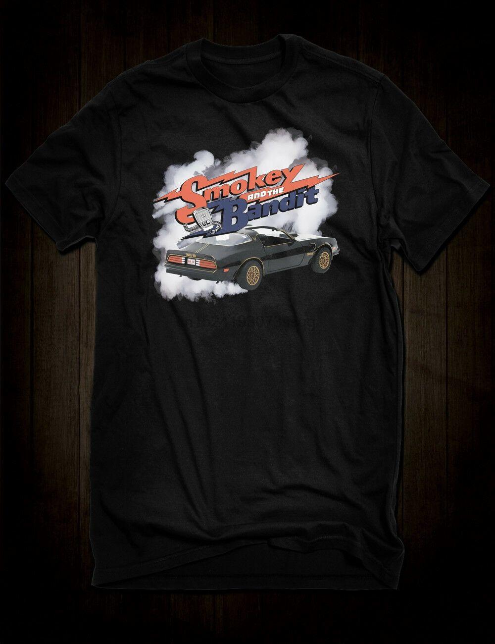 Nueva Negro Smokey and the Bandit Trans Am camiseta Cult Film Tee Burt Reynolds coche