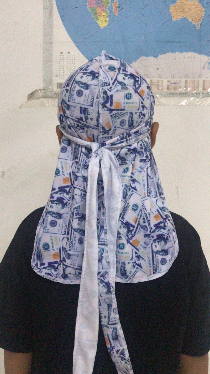 1pcs Durag Bandeau Pirate Chapeau Bandanas pour les hommes et les femmes 20 Designs Silky Durags Du-Rag Bandana headwraps Caps Hip-hop tête Wraps