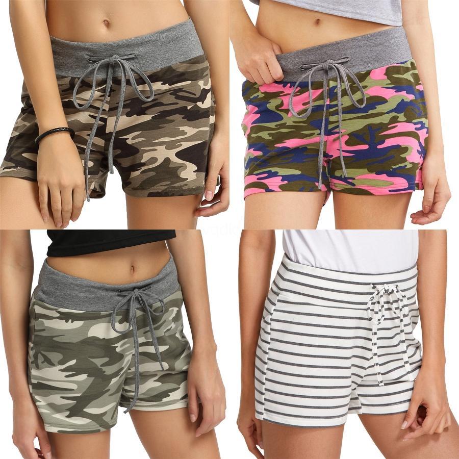 Leopard Shorts Splice Casual avec cordon de serrage élastique de taille en vrac Shorts Comfy Eté Shorts taille haute femmes LJJO8132 # 2441
