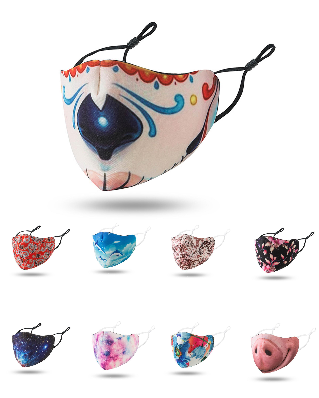 renkli çizim hayvan model tasarımcı yüz ayarlanabilir koruyucu maske toz maskesi ve nefes yüz maskeleri bulanıklık