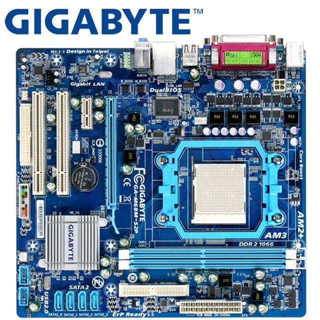 GIGABYTE GA-M68M-S2P سطح اللوحة 630A المقبس AM2 / AM2 + AM3 لالظاهرة الثانية أثلون II سيمبرون 100 DDR2 8G مستعمل اللوحة