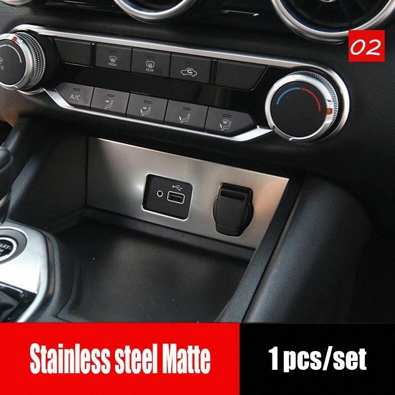 Aço inoxidável para Sentra 2020 Car isqueiro Painel Decoração Tampa guarnição Etiqueta Car Styling Acessórios Car Interior Decorat gSwZ #
