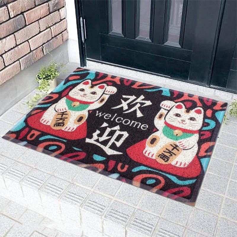 Напольное ковровое покрытие не скользит дверь двери шелк кольцо ковер домашней кухни нескользящий коврик масло доказательства коврика для ног