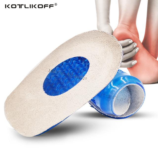 Shoes KOTLIKOFF Silicone Gel orthopedic Insoles Back Pad Heel Cup for Calcaneal Pain Health Feet Care Support spur feet cushion pads