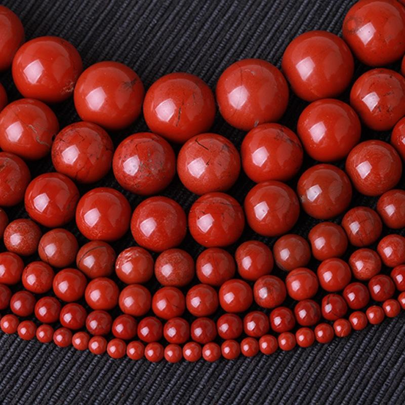 4Zx4L Natural Chicken liver Stone stone Warring States period red agate round disciple beads DIY Star Moon Bodhi Red jade beads zhu Yuzhu ac