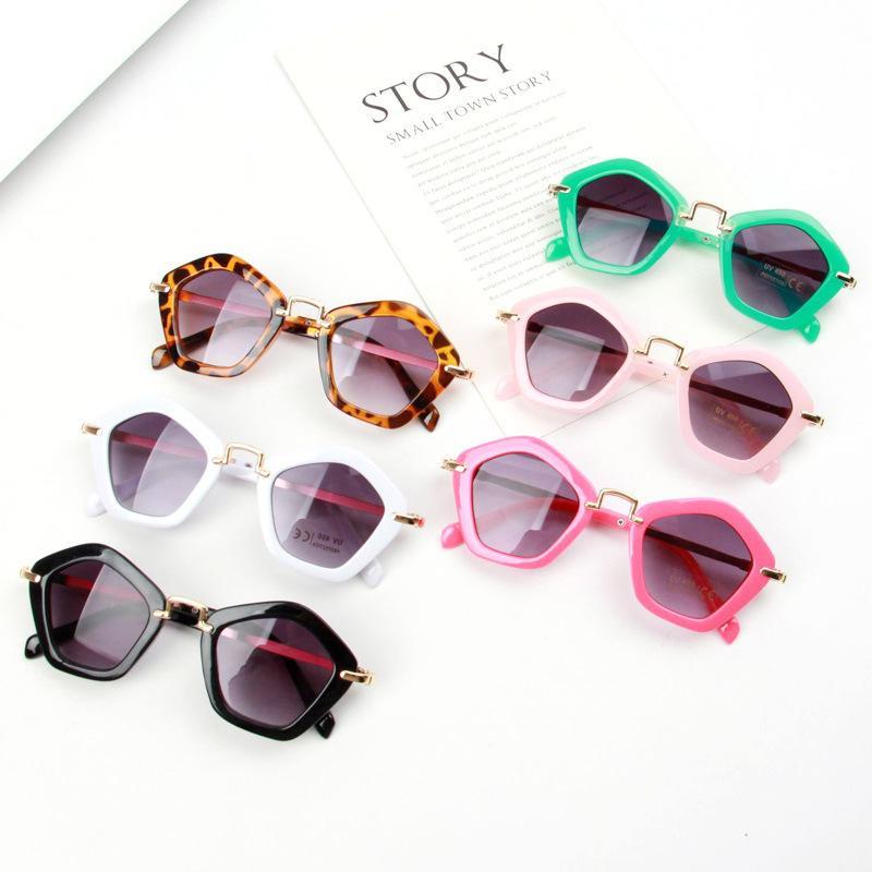 Rhombus Gözlükler Retro Metal Çocuk Güneş gözlüğü PC Çerçeve Anti-UV400 Gözlük Sahil Açık Kız Erkek Hediye Güneş Gözlükleri