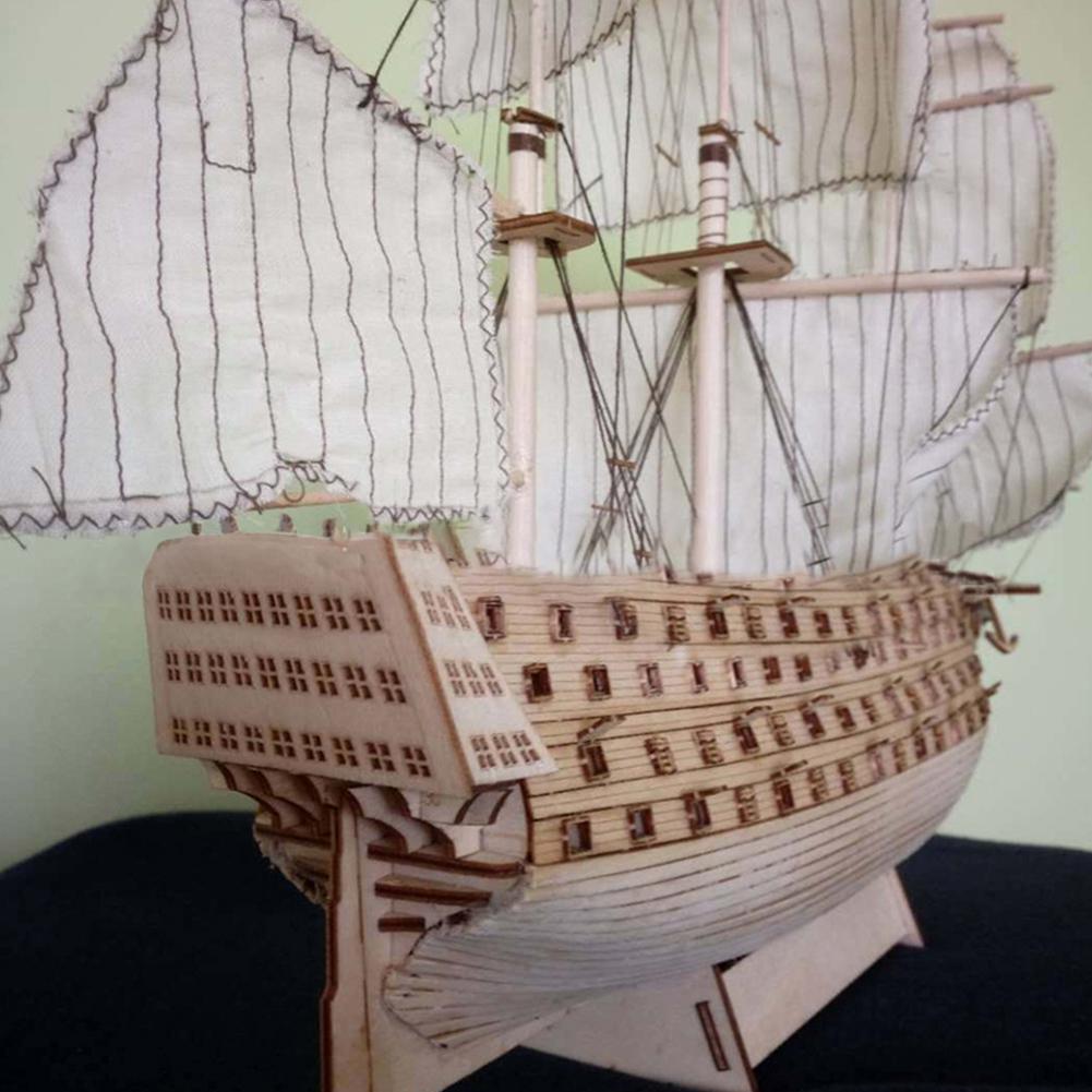 Hobbylane de bricolaje de madera ensambladas Victoria Marina Real del barco de vela Modelado juguete Decoración T200727